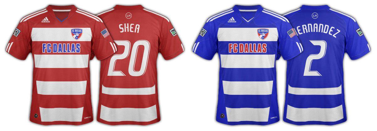 2010 and 2011 FC Dallas jerseys