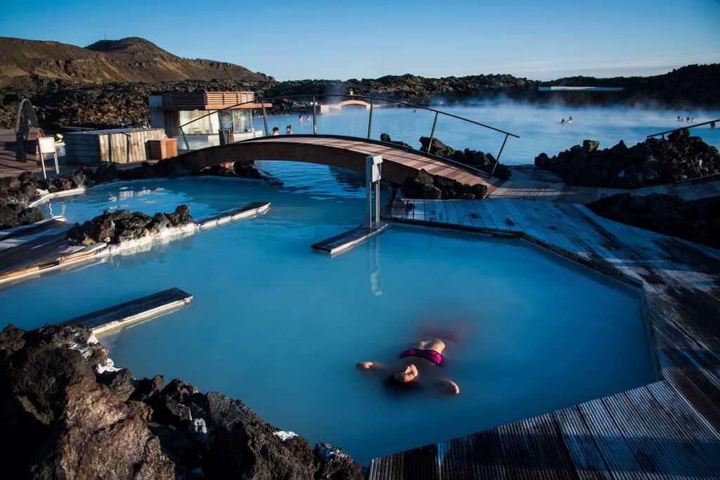 Even if you don't see the northern lights, you can still float in the Blue Lagoon, a geothermal spa that is one of the most-visited attractions in Iceland.
