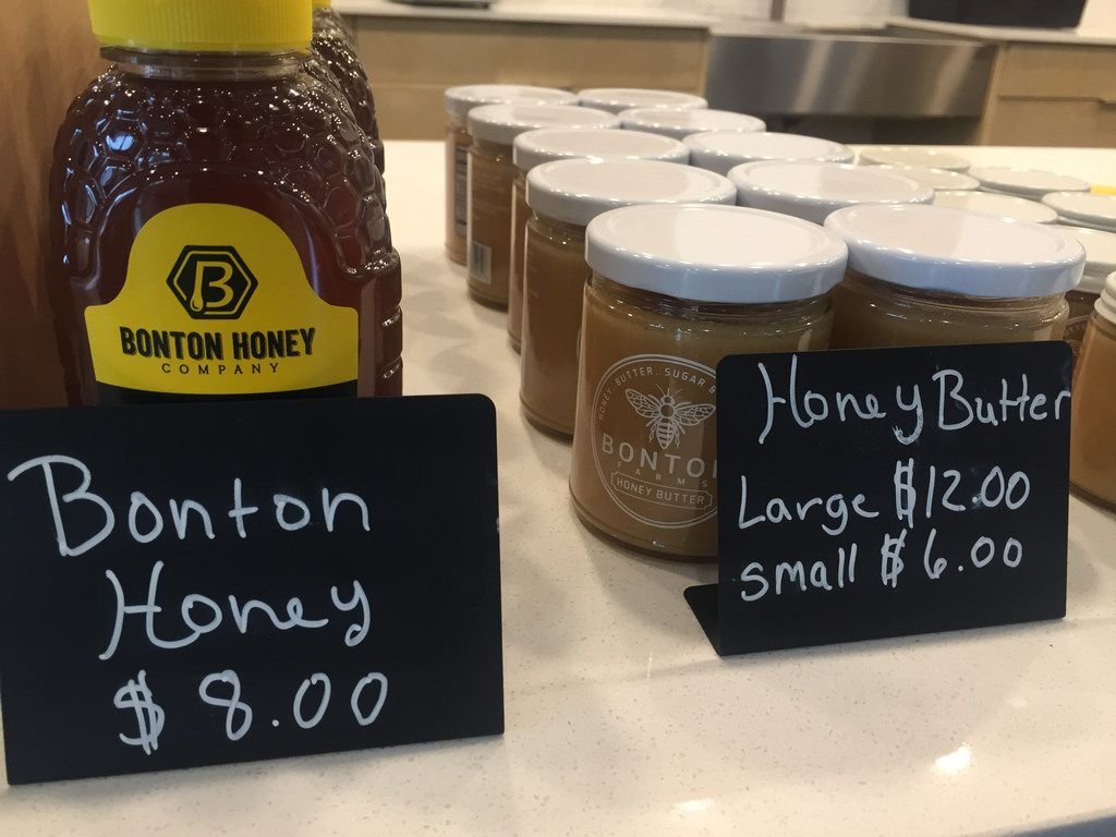 The Bonton Honey and Honey Butter at The Market at Bonton Farms in Dallas. (Irwin Thompson/The Dallas Morning News)