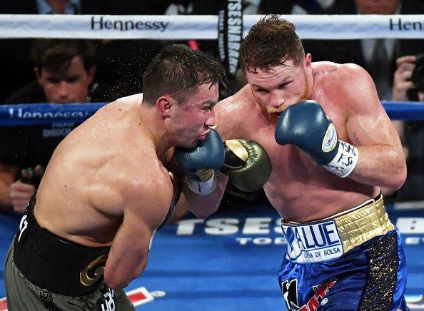 Gennady Golovkin y Canelo Álvarez se enfrentarán el 5 de mayo en Las Vegas. Foto Getty Images
