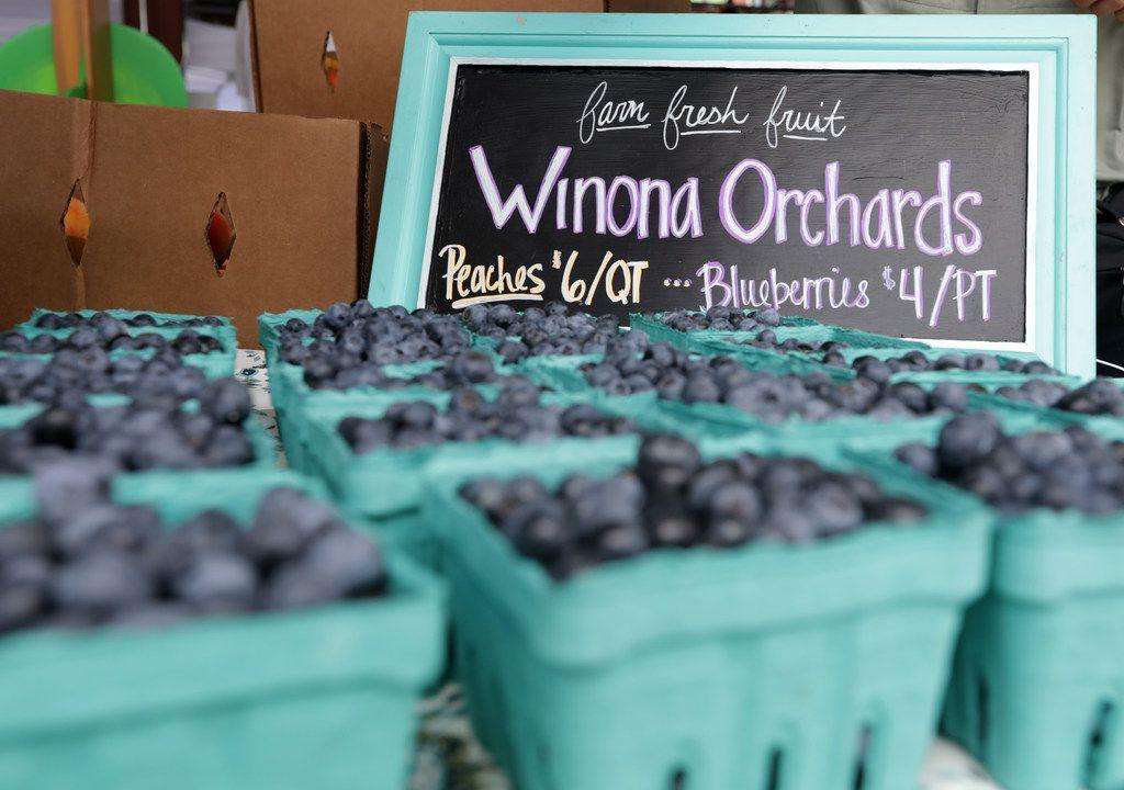 Fresh produce at the Frisco Fresh Market in Frisco