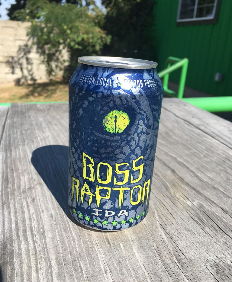Boss Raptor IPA from Audacity Brew House in Denton