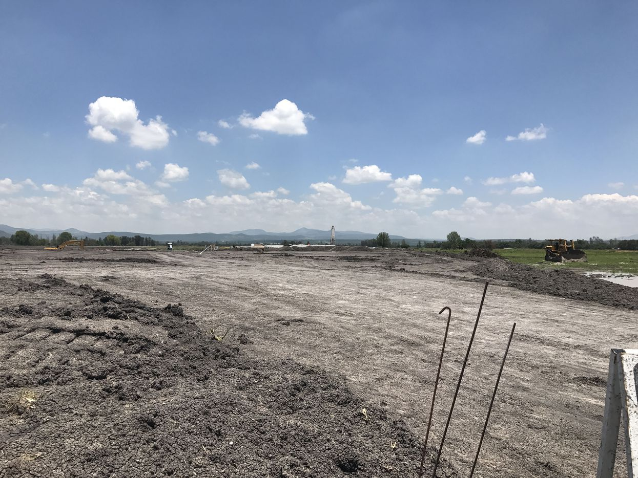 Work continues for the Toyota plant under construction in the central state of Guanajuato, Mexico, which is expected to open in 2020.