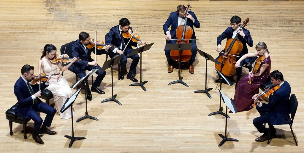 The Mendelssohn Octet performed at SMU's Caruth Auditorium in Dallas on Jan. 28, 2019.
