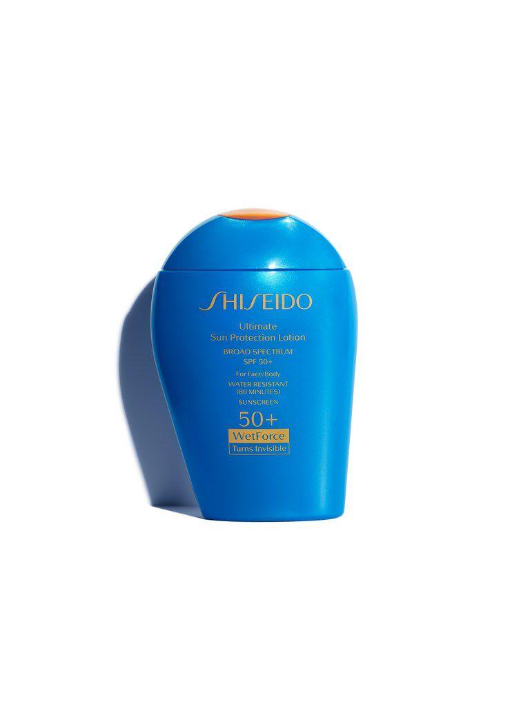 Shiseido Ultimate Sun Protection Lotion WetForce SPF 50+, $40