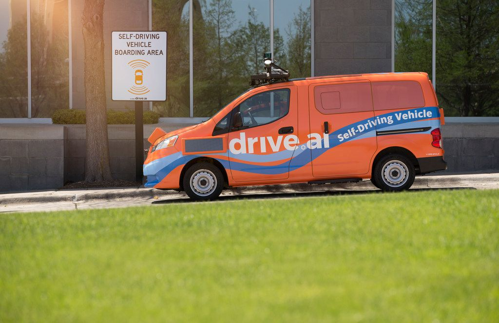 The city of Arlington approved a one-year contract Tuesday with  Drive.ai to make its self-driving vans available to take people  around the city's entertainment district. The service will begin Oct. 19 with three vans.
