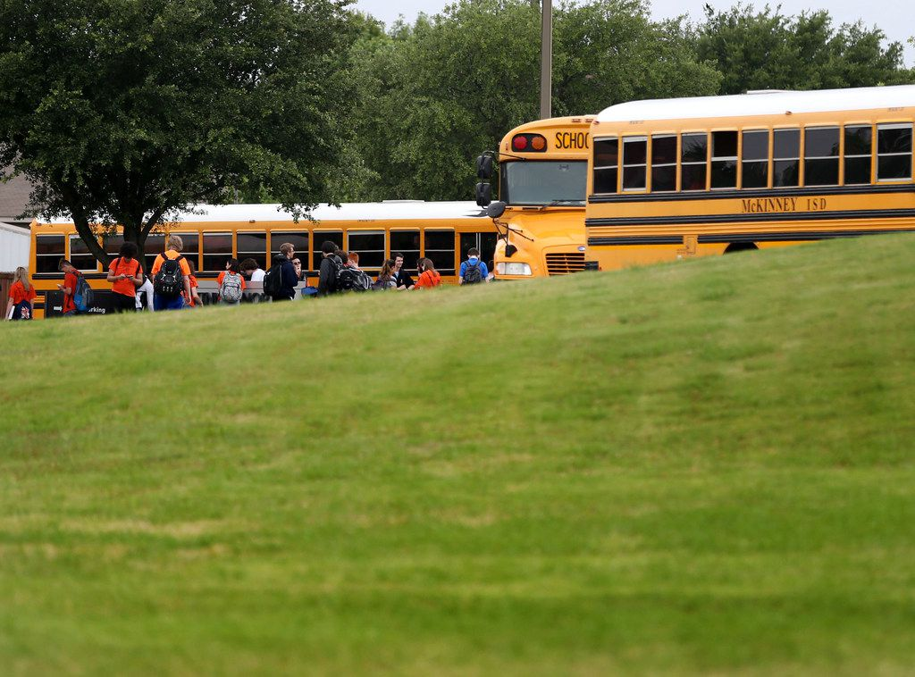 McKinney North High School students left the school after dismissal Monday. This was the first day back for students after a fellow classmate died from a self-inflicted gunshot wound.