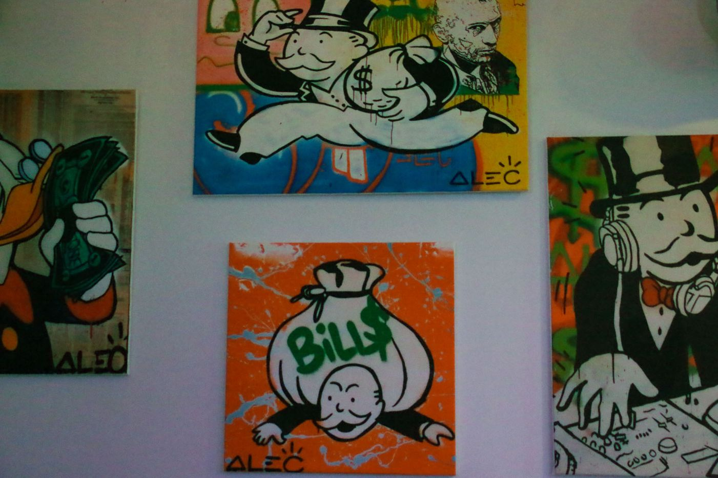 TBD has Monopoly art on the walls.