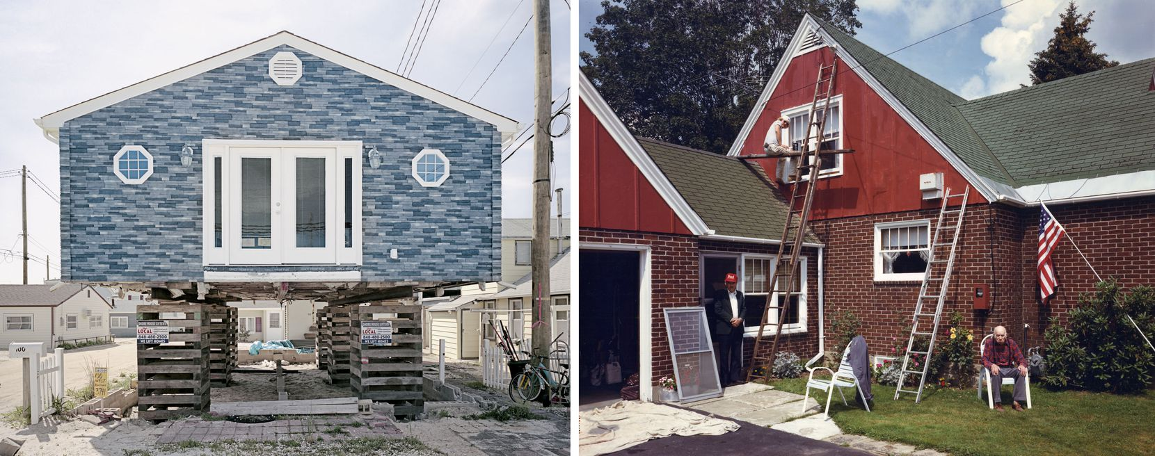 (LEFT) Ira Wagner, Ocean Beach VII, 2012; (RIGHT) David Graham, Near Niagara Falls, NewYork, 1989