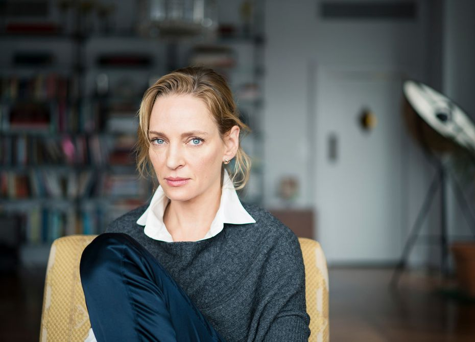 Uma Thurman at home in New York, Jan. 29, 2018. Thurman has accused embattled Hollywood producer Harvey Weinstein, who produced several movies she has starred in, of forcing himself upon her sexually. (Damon Winter/The New York Times)