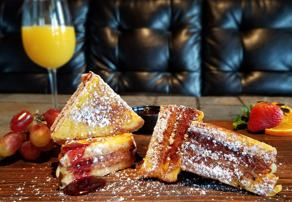 For brunch on Mother's Day, Humperdinks advertised this Monte Cristo sandwich. With each brunch entree purchase, moms received a free mimosa or glass of Champagne.