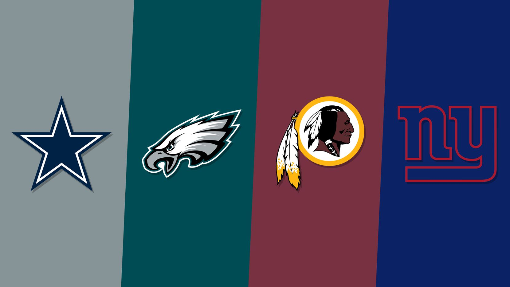 The NFC East teams ranked in order of how they finished after the 2018 regular season.