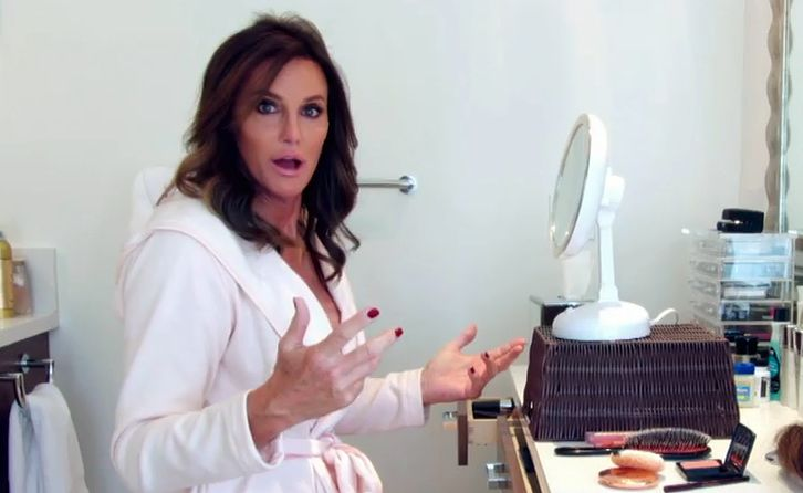 "This image provided by courtesy of E! shows Caitlyn Jenner in the first official promotional trailer for the new documentary series, ""I Am Cait."" Jenner's transition has led to a surge of public discussion about transgenderism."