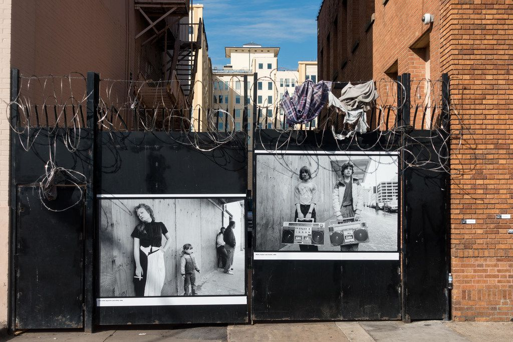 Looking for Home installation, The Stewpot on Park Avenue, photograph by Alan Govenar.