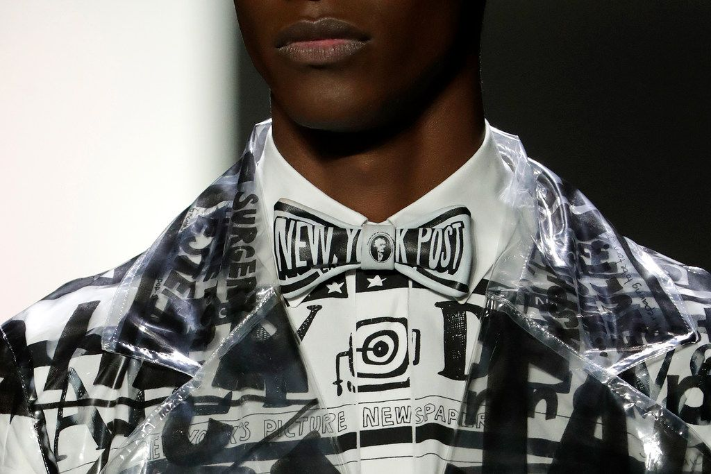 Fashion from the Jeremy Scott collection is modeled during New York Fashion Week, Friday, Feb. 8, 2019, in New York.