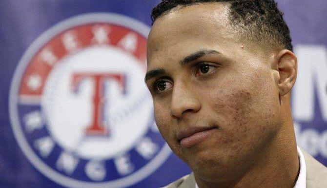 El jardinero cubano de los Rangers Leonys Martin denunció que fue secuestrado por los acusados. (AP/Tony Gutierrez)