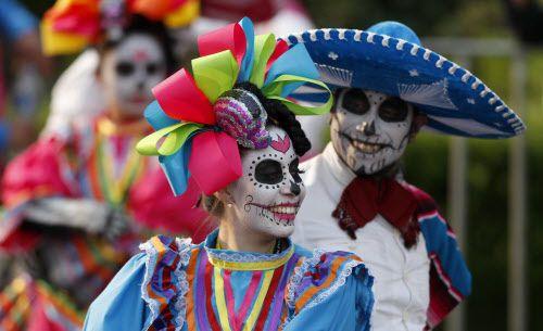 El Día de los Muertos se celebra en México, Estados Unidos y algunos puntos de  Centroamérica. Foto AP