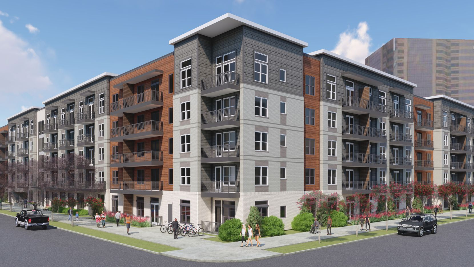 The first apartments in Mill Creek Residential's Modera Dallas Midtown will be ready at the end of next year.