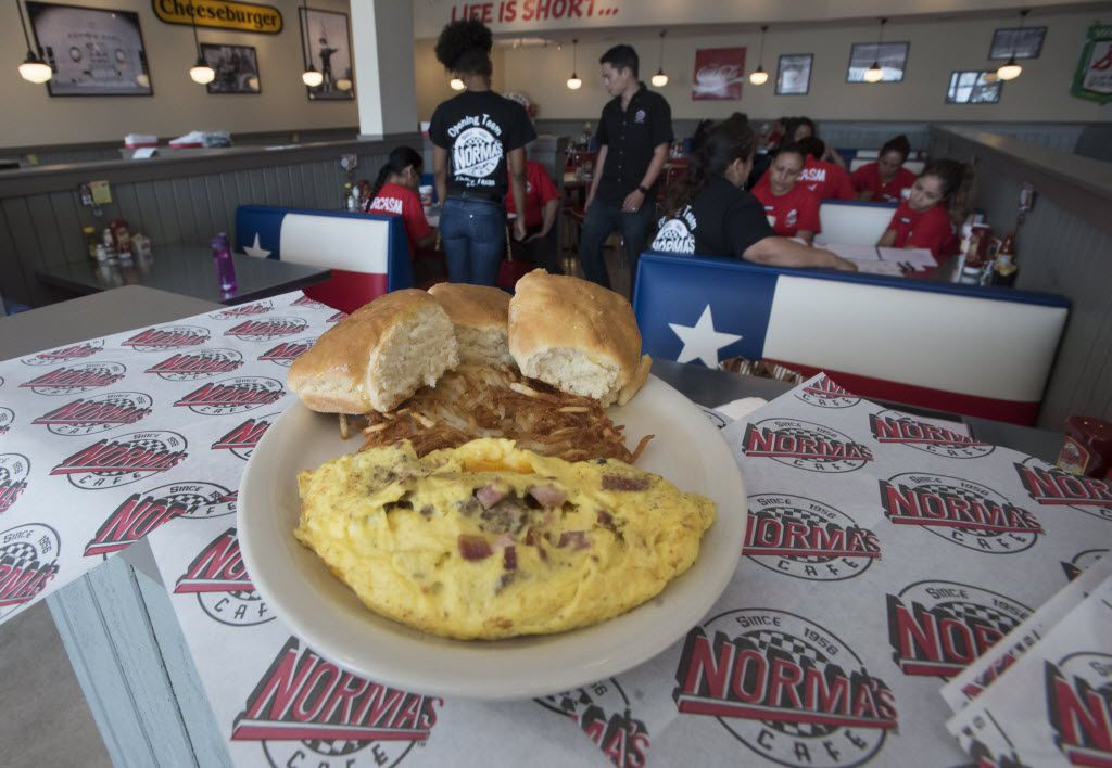 An omelet from the newest location of Norma's Cafe in Caruth Plaza on Friday, July 8, 2016.