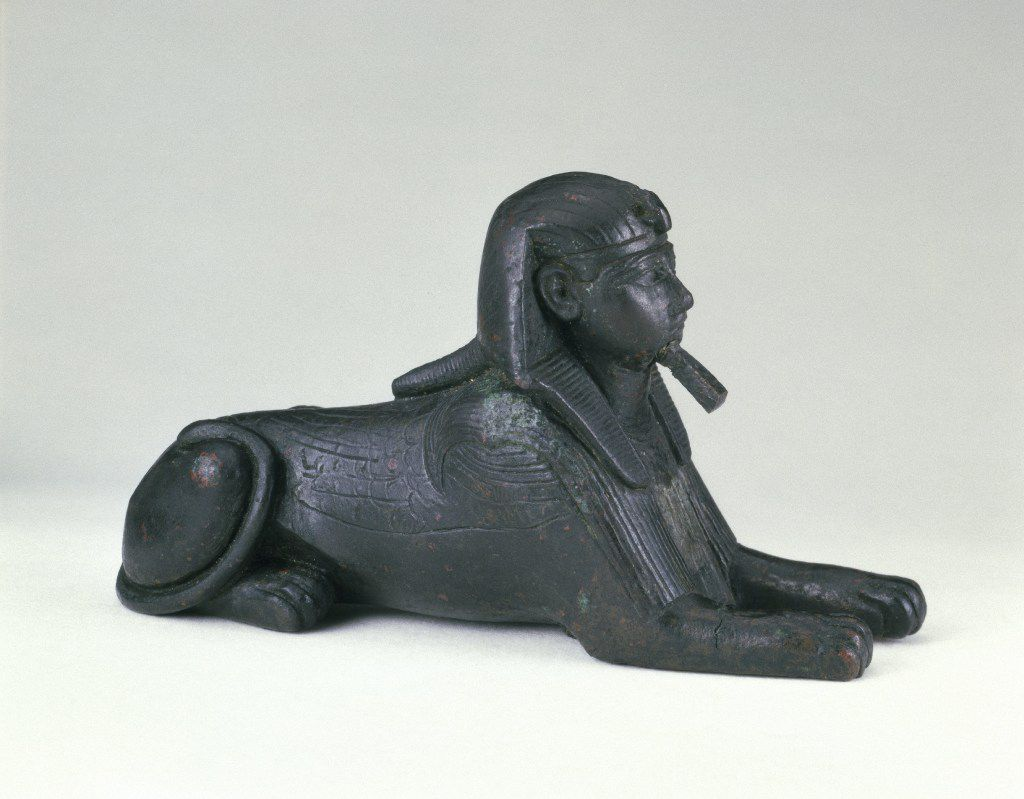 Sphinx of King Sheshenq c. 945 718 B.C.E. Bronze, Brooklyn Museum. Charles Edwin Wilbour Fund, 33.586 (Dallas Museum of Art)