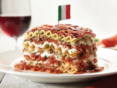 "Spaghetti Warehouse calls its 15-layer lasagne ""our all-time guest favorite"" on the menu. It's one of the best-sellers at the restaurant."