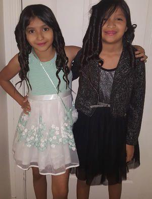 Sisters Jaylene (left) and Jazmine Alfaro were on the bus. Jazmine, 12, died.