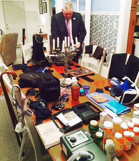 The dining room table in Ken Adams' Frankston, Texas, home is filled with medical supplies that he relies on to treat injuries sustained while in the Army. The retired master sergeant is among the veterans who say that the Army's Warrior Transition Units, established to help severely wounded veterans like Adams, have fallen well short of their objectives.