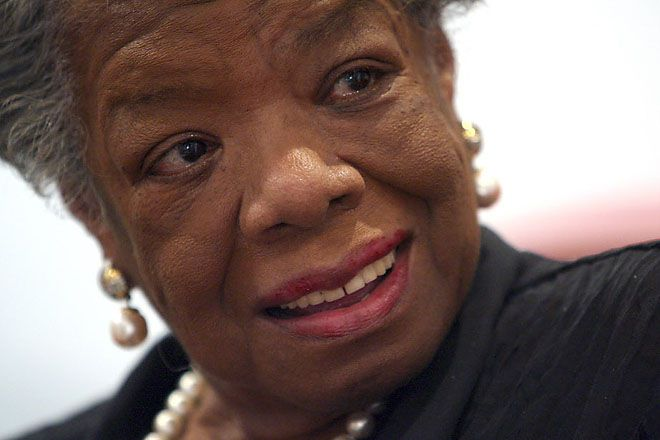 Maya Angelou, who overcame poverty and harsh circumstances to become a leading American poet and noevlist, died Wednesday at age 86 in her home in Winston-Salem, N.C.