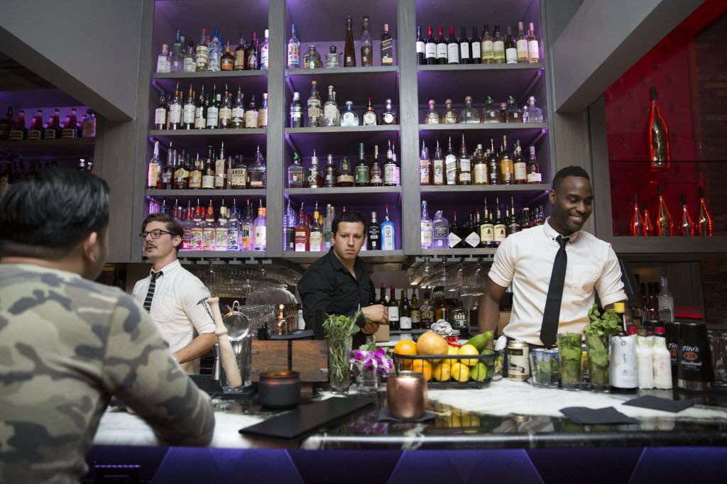 Citizen, offers a wide variety of fine whiskeys, champagnes, vodka, tequila, gin, and wines, shown Thursday, November 12, 2015. (Allison Slomowitz/ Special Contributor)