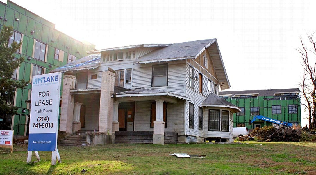 Here's a look at The Mayor's House, from the DMN files. It isn't an updated photo.