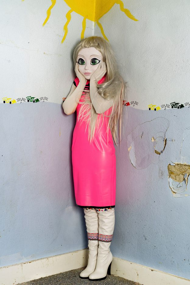 Laurie Simmons 'Blonde/Pink Dress/Standing Corner,' 2014