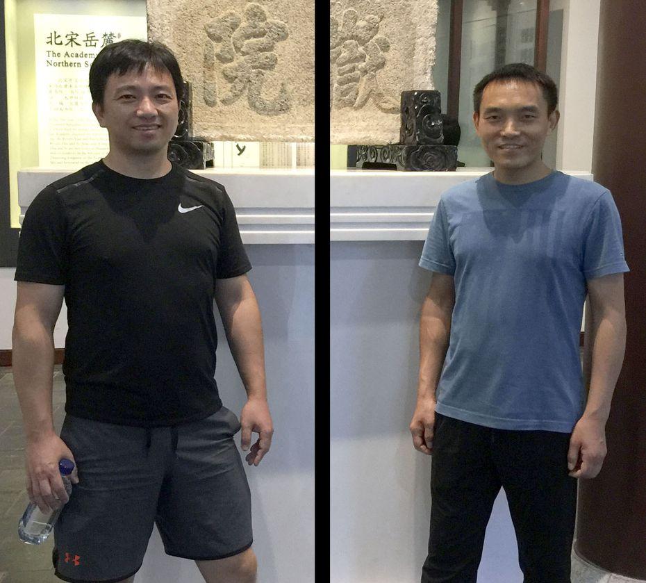 Yu Luo (left) and Shiguo Wang.