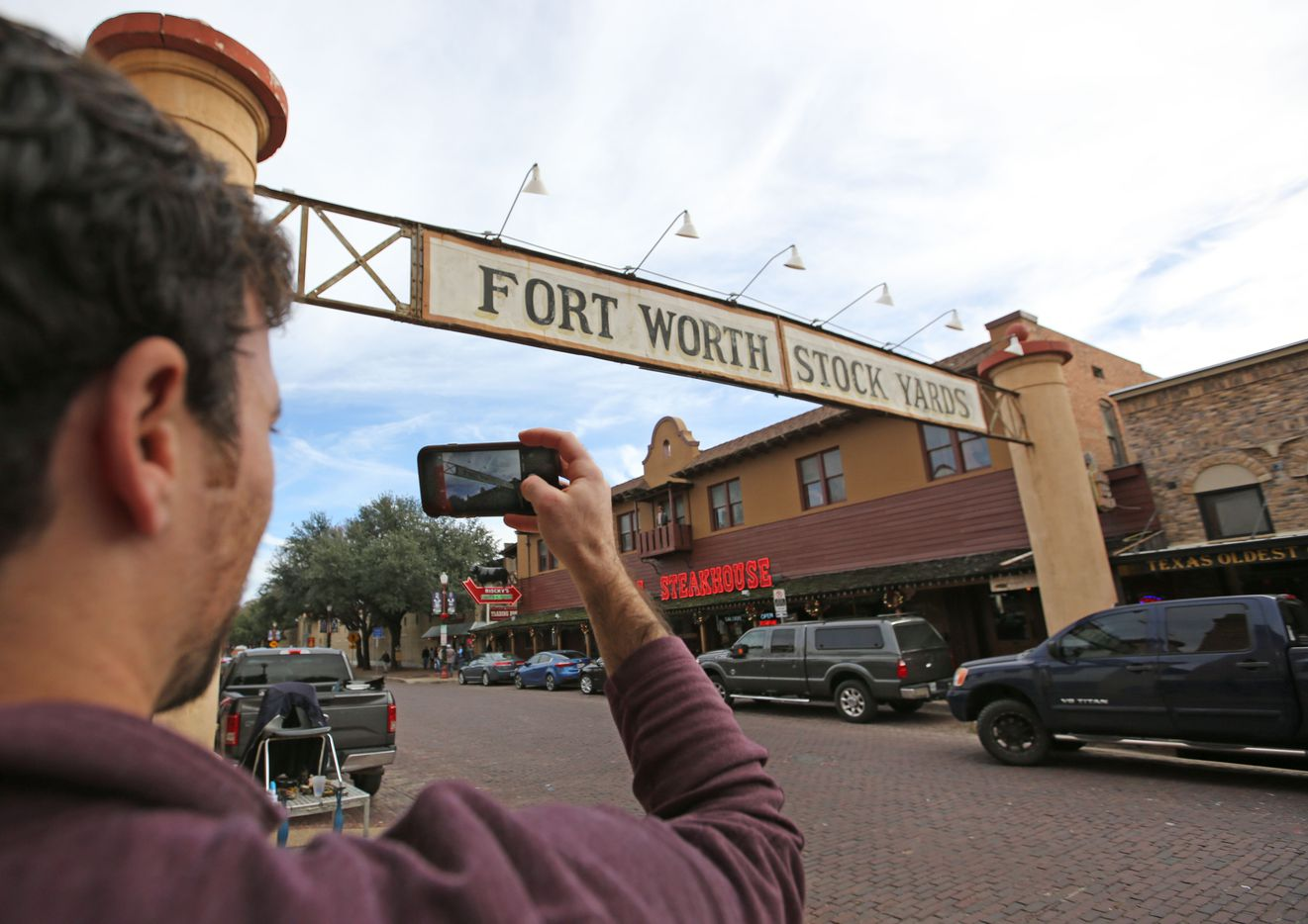 A stop in Fort Worth's Stockyards district.