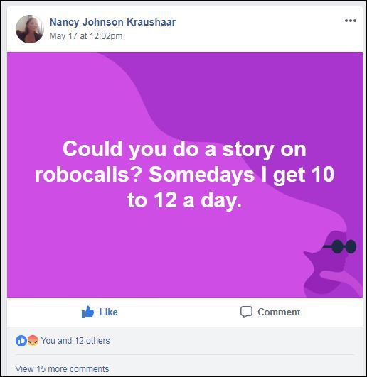 A company that uses robot voices to thwart phone scammers