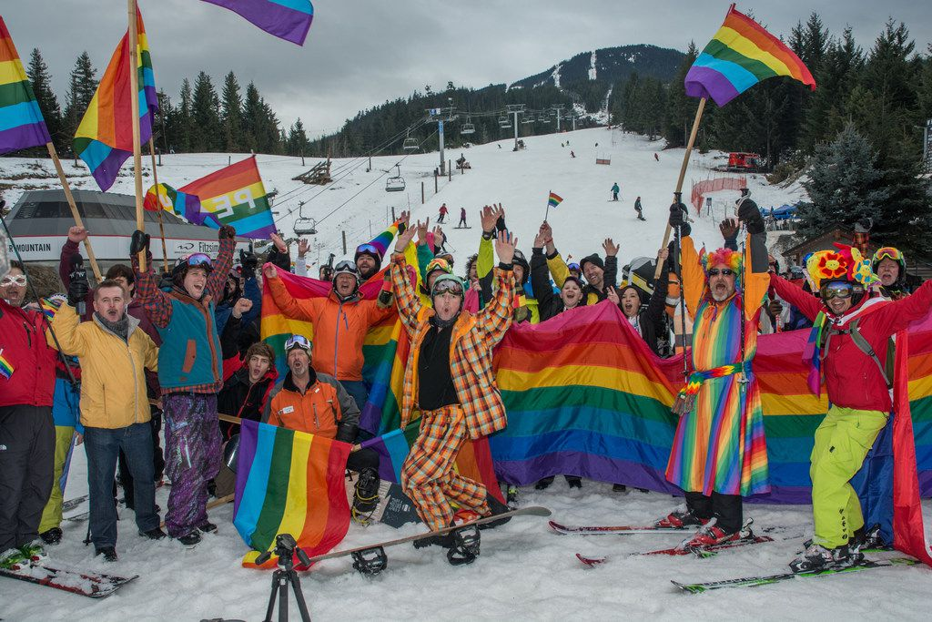 First to launch a downhill ski parade, Whistler Pride is Canada's biggest gay ski event.
