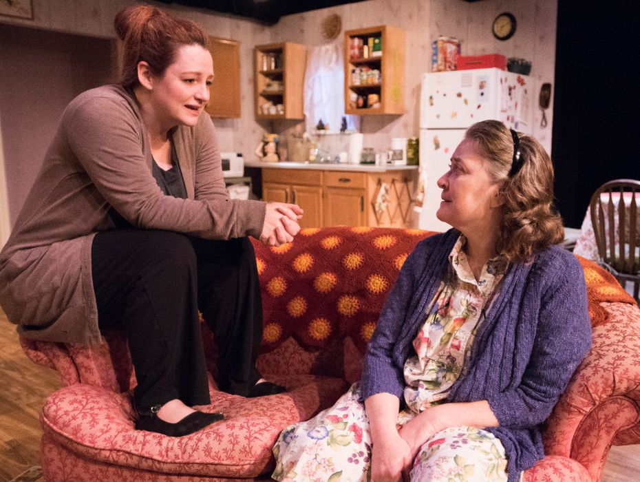 Jessica Cavanagh, left, plays Jesse Cates and Amber Devlin plays Mama (Thelma Cates) in the Marsha Norman's 1983 Pulitzer Prize-winning play, ''€˜night, Mother'€ from Echo Theatre at the Bath House Cultural Center in Dallas.