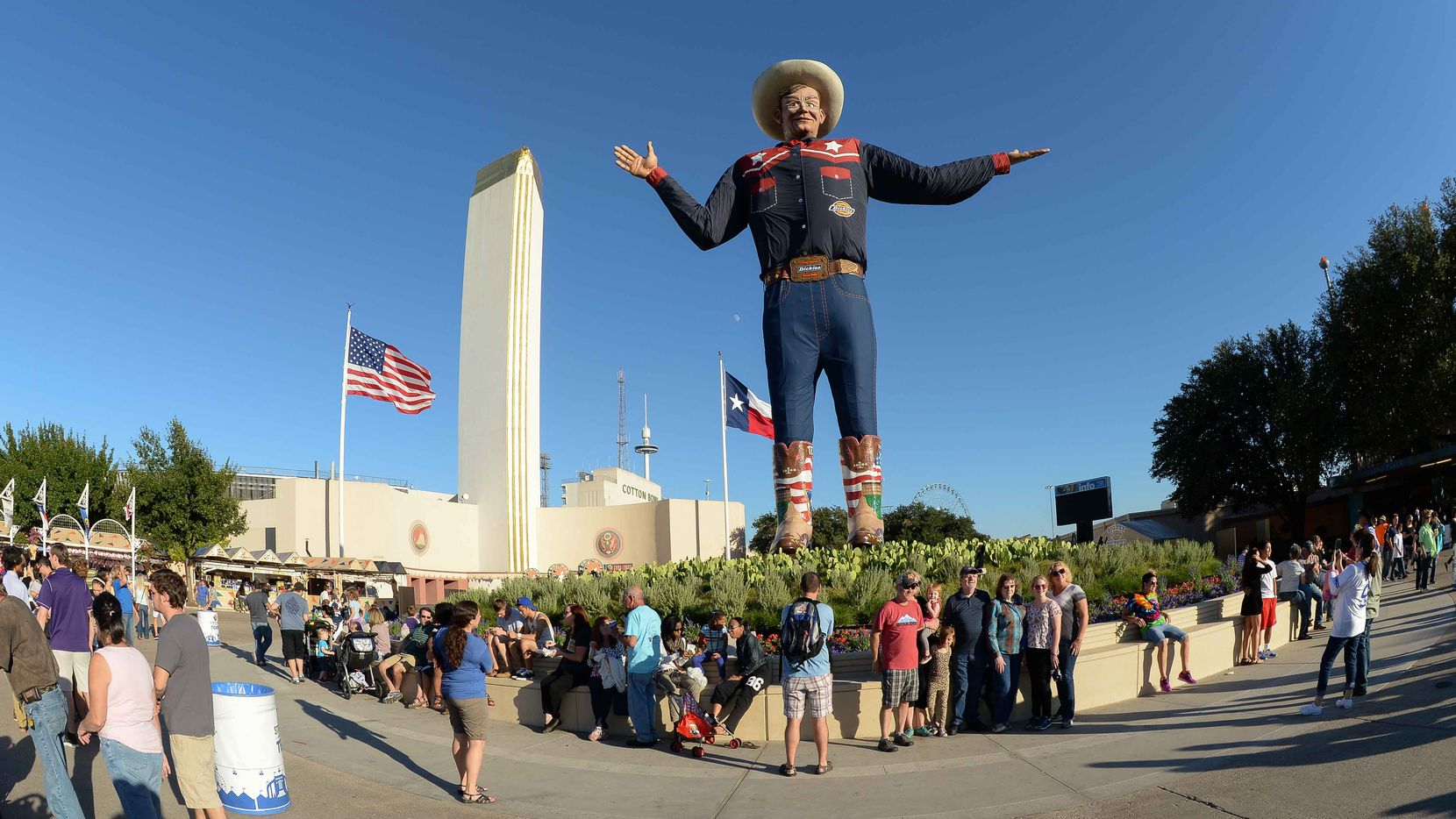 Howdy, Big Tex!  He'll be greeting folks at the State Fair of Texas.