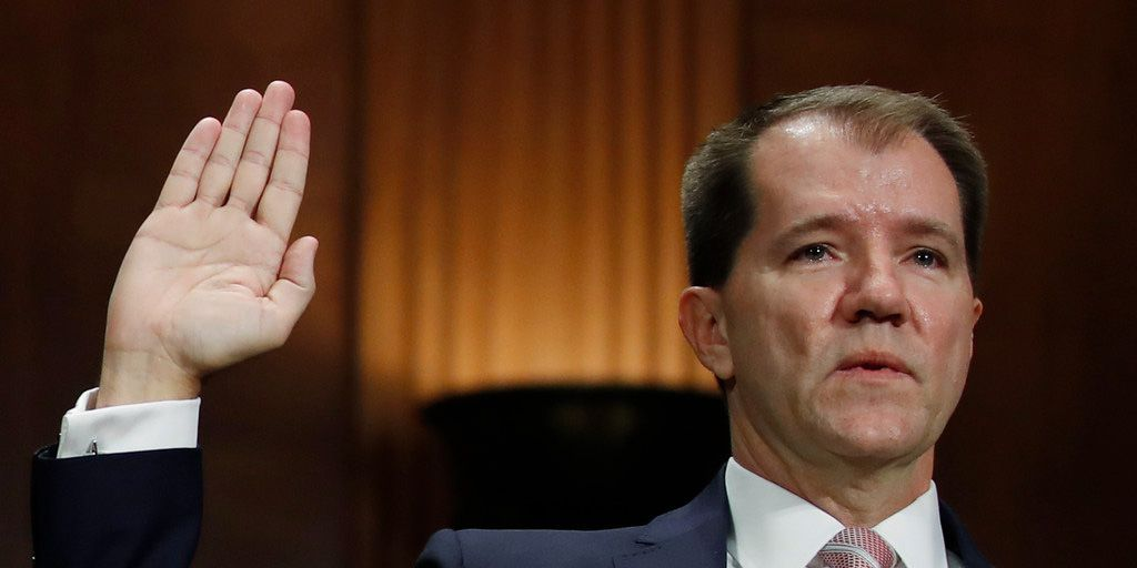 Texas Supreme Court Justice Don Willett is sworn in during a Senate Judiciary Committee hearing on nominations in Washington.