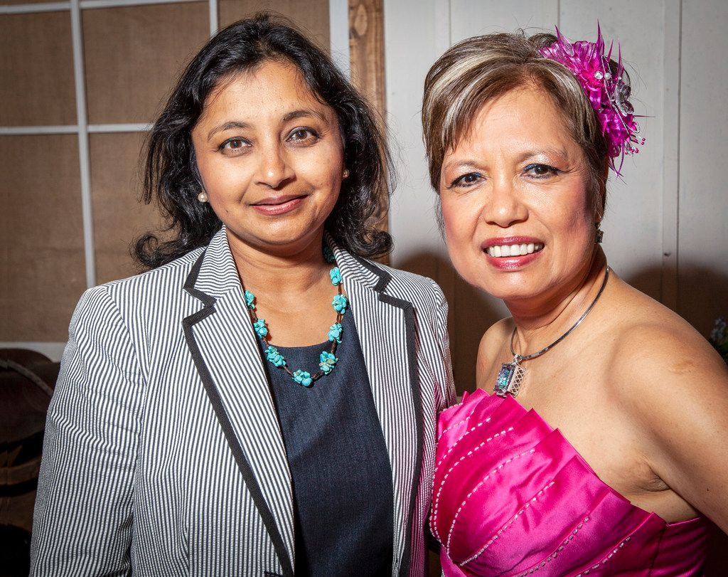 Honorees Sejal Desai (left) and Susie Jennings at the Southwest Jewish Congress in Dallas, Thursday, Sept. 6, 2018.