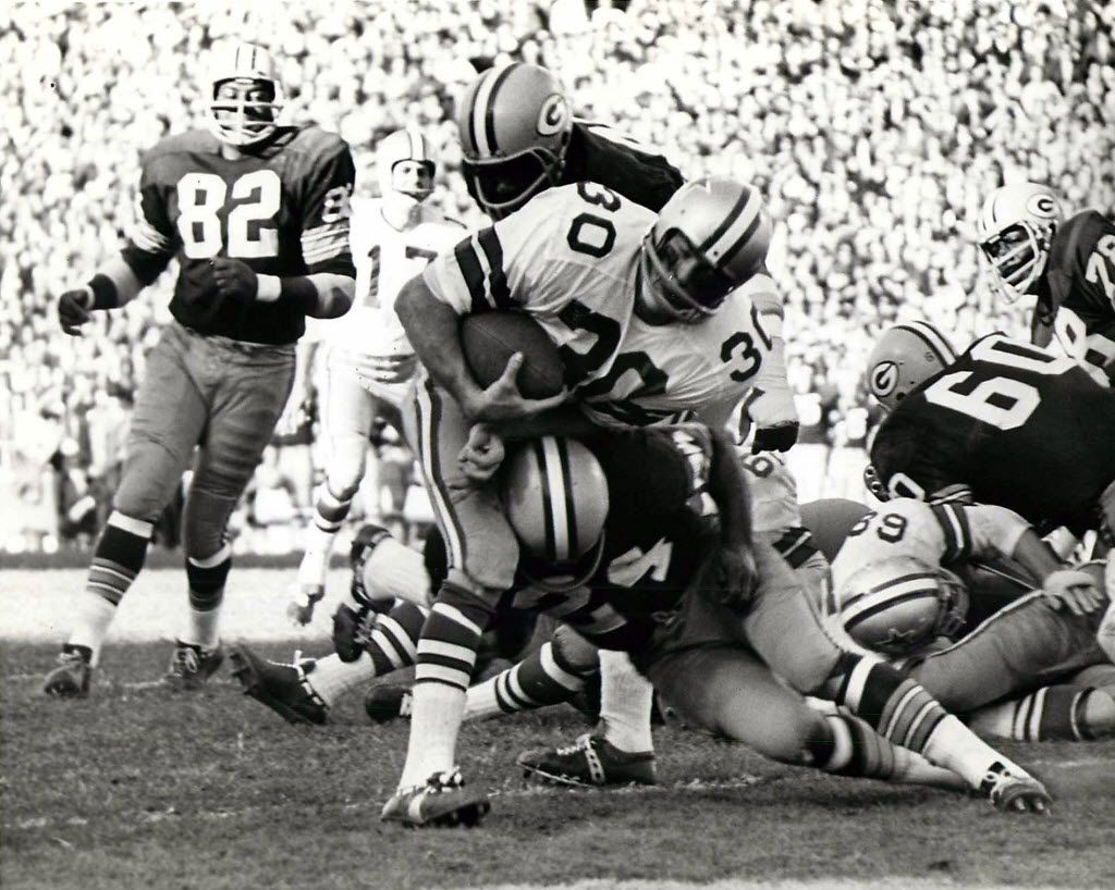 Dallas Cowboys vs. Green Bay Packers (34) on New Year's Day, 1967, at the Cotton Bowl. The Cowboys lost the NFL championship to the Packers.