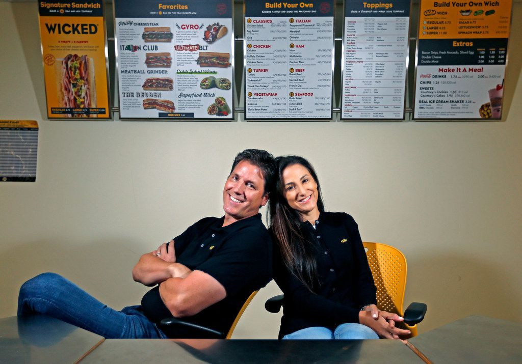 """Jeff and Courtney Sinelli founded Which Wich Superior Sandwiches in Dallas in 2003. Since their start 15 years ago, Jeff says, """"The world of eating has moved light-years ahead."""""""