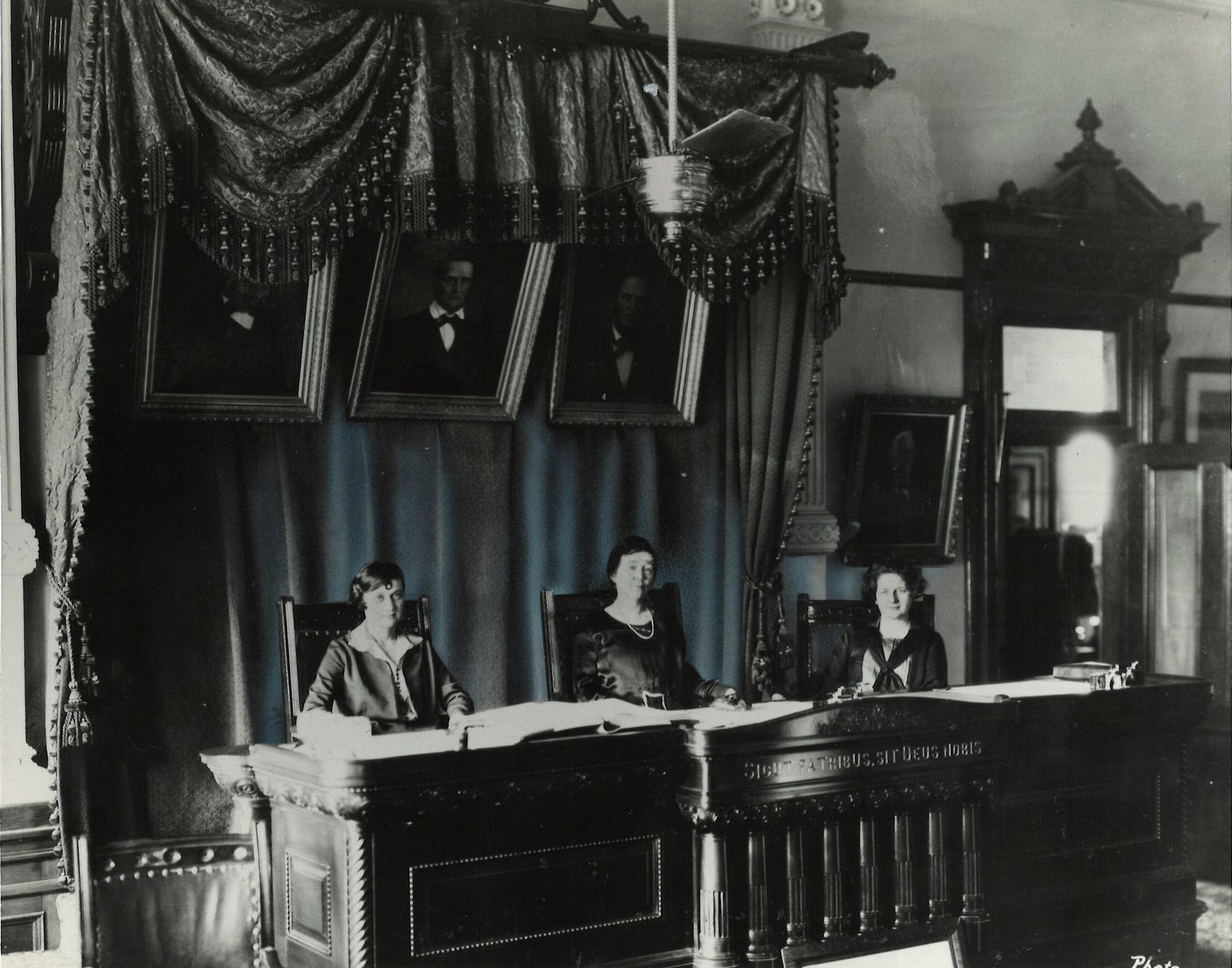 """The """"All-Women"""" court in 1925."""