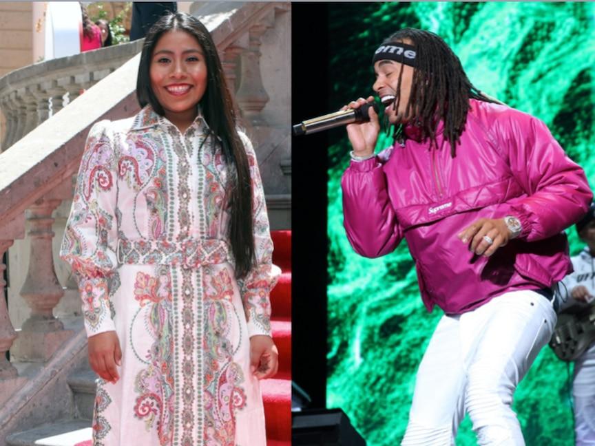 La actriz Yalitza Aparicio y el cantante Ozuna. AGENCIA REFORMA.