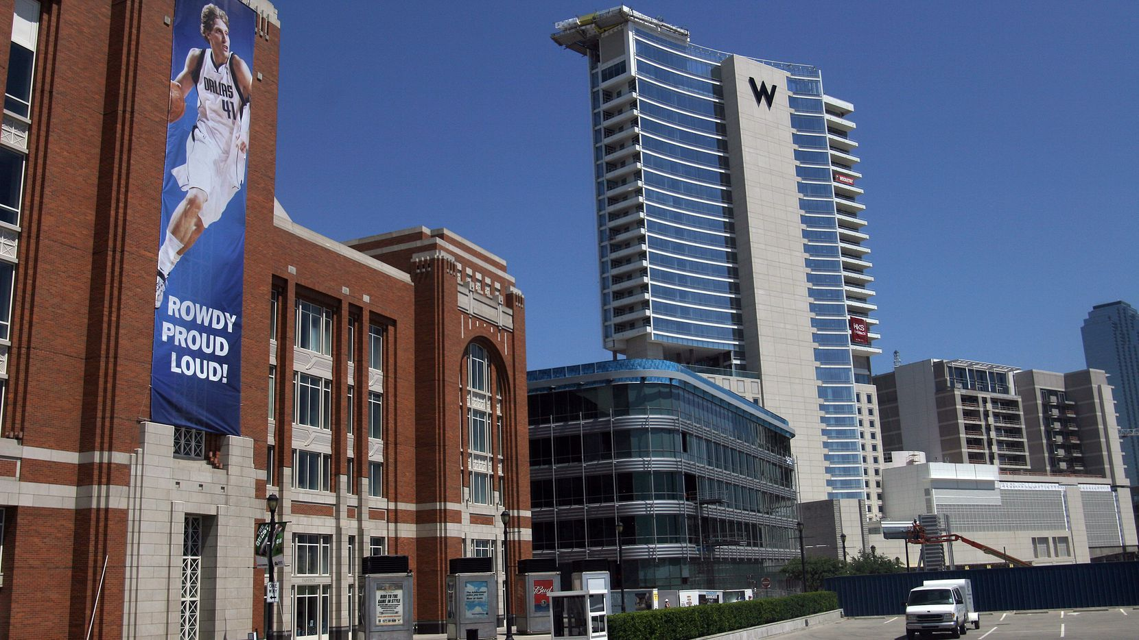 The W Hotel opened in Victory Park in 2006.