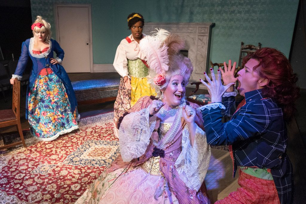 Dani Holway (from left), Sky Williams, Jennifer Kuenzer and Marianne Galloway star in The Revolutionists, which runs through Aug. 5. The play is put on by Imprint Theatreworks, a new company emphasizing ensemble theater. (Rex C. Curry/Special Contributor)
