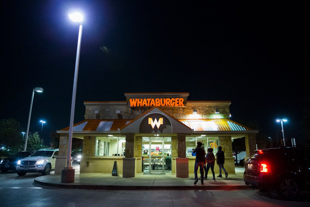 High school football teams in Frisco fight for domain over Whataburger restaurant #1020 at the corner of North Dallas Parkway and Eldorado Parkway.
