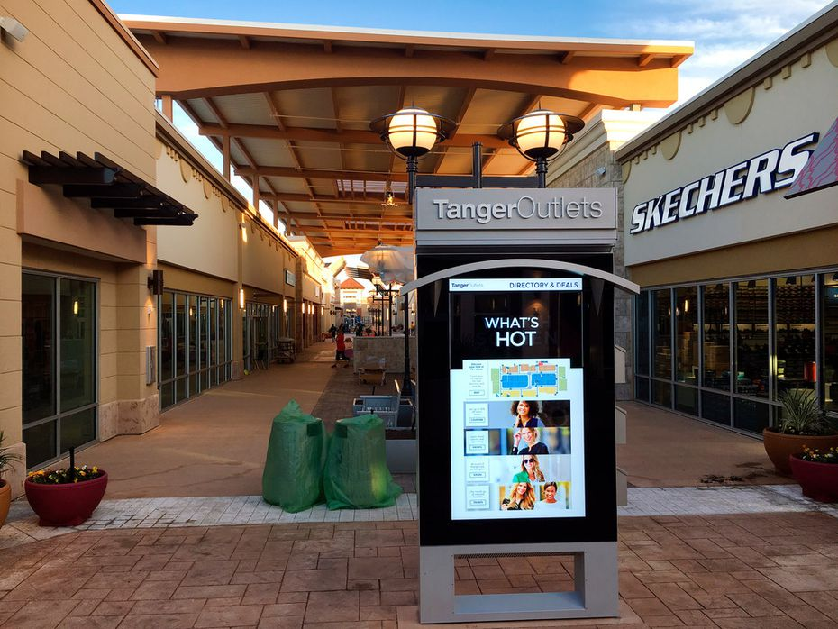 The Tanger Outlets shopping center is getting ready to open in October near the Texas Motor Speedway at Hwy 114 and Interstate 35 in North Fort Worth.