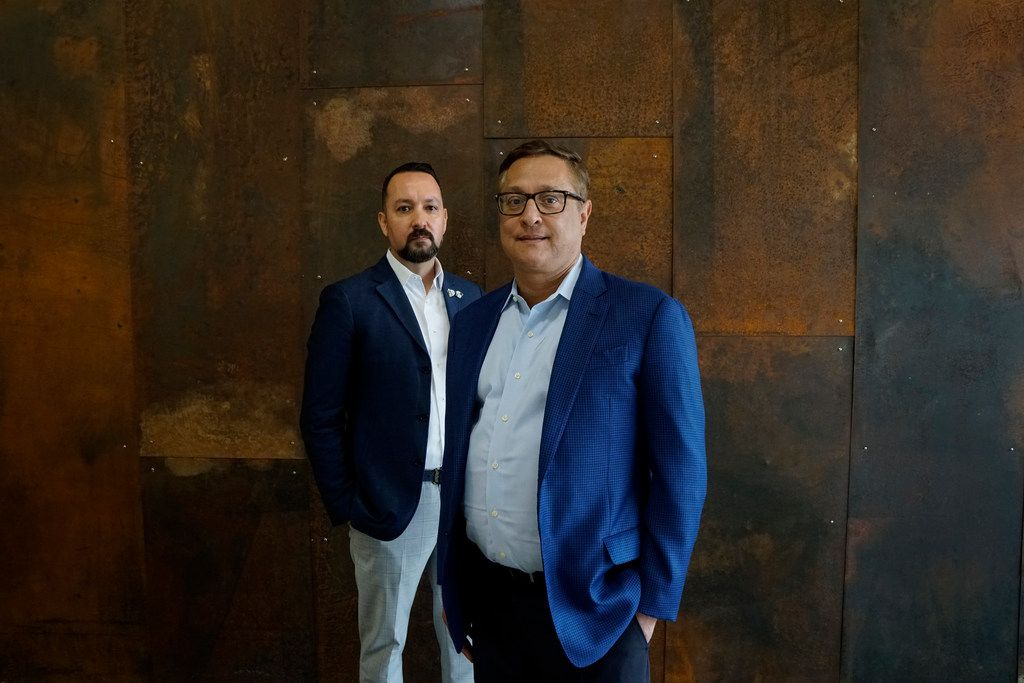 Carlos Gonzalez-Jaime and Jorge Baldor  at their museum, the Latino Arts Project in Dallas on April 11, 2019. The museum focuses on Latino art.