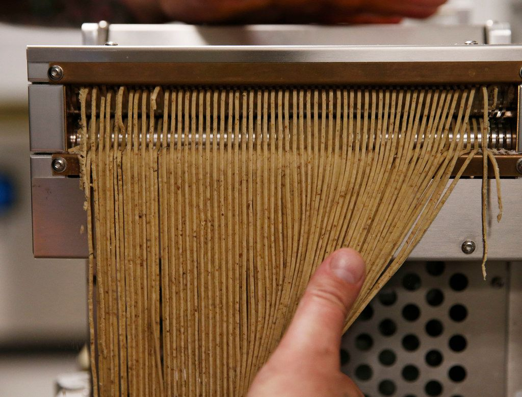 At Salaryman, chef Justin Holt makes noodles using locally grown yecora rojo wheat.
