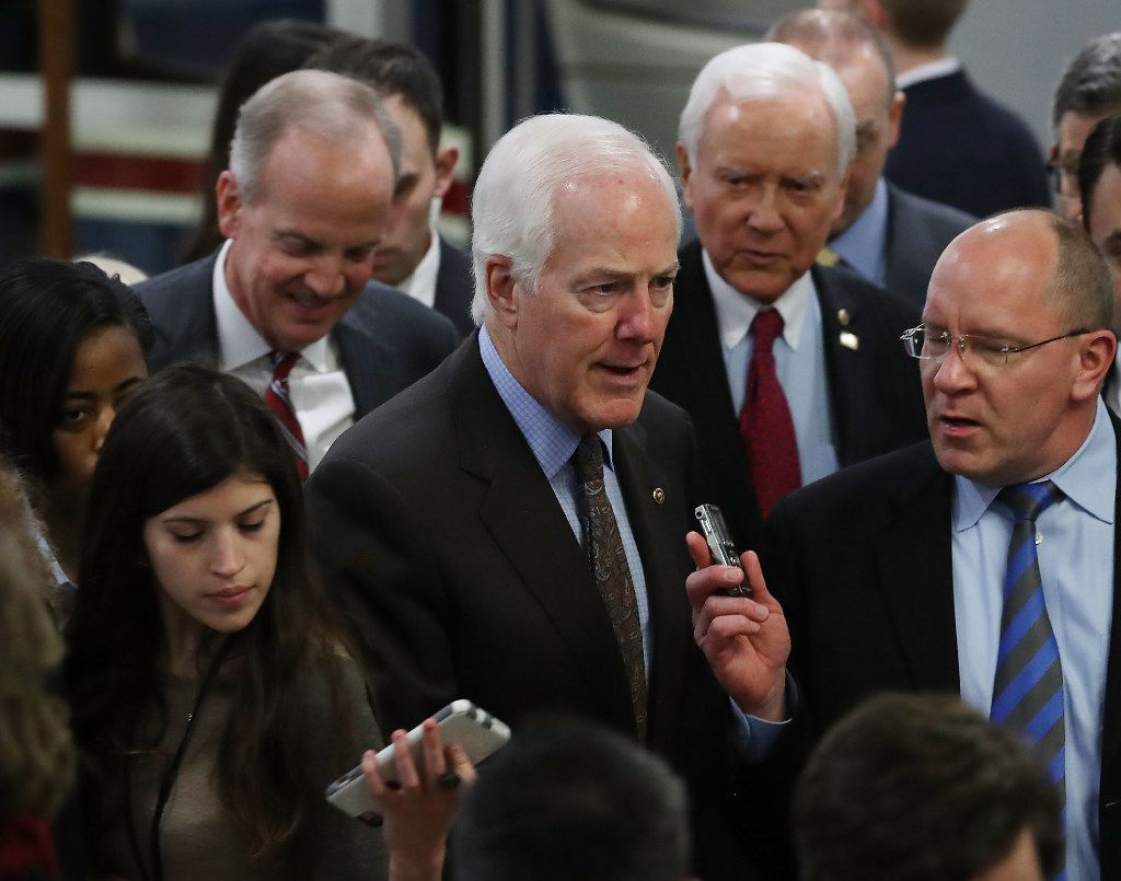 """Sen. John Cornyn said Tillerson is a person of """"conviction,"""" """"competence"""" and """"character.""""  (Photo by Mark Wilson/Getty Images)"""